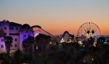 Disneyland from Rooftop Lounge