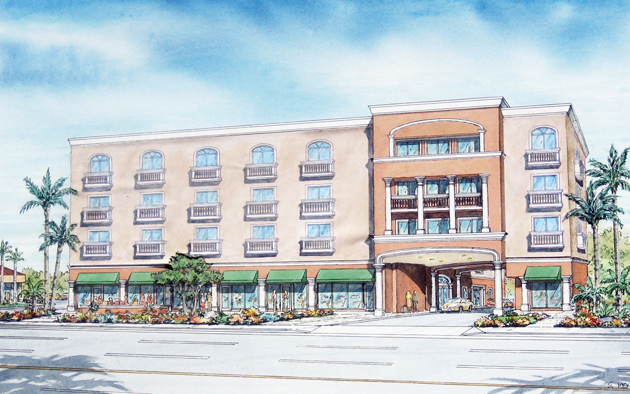 New front building rendition